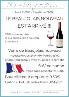 21/11/19 – Le Beaujolais Nouveau est arrivé!